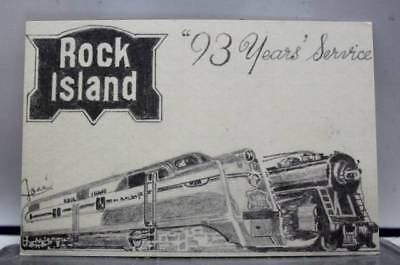 Scenic Rock Island 93 Years Service Postcard Old Vintage Card View Standard Souv
