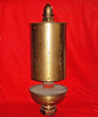 X-Large Antique Brass Single Chime Steam Whistle (Mill, Factory, Railroad)