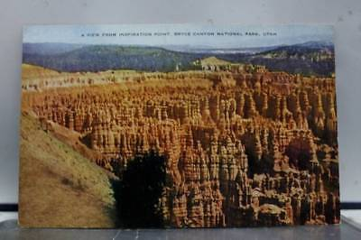 Utah UT Inspiration Point Bryce Canyon Park Postcard Old Vintage Card View Post