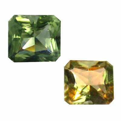 0.55 ct Dazzling Princess Shape (5 x 5 mm) Un-Heated Color Change Diaspore