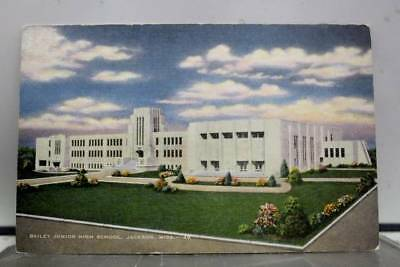 Mississippi MS Bailey Junior High School Jackson Postcard Old Vintage Card View