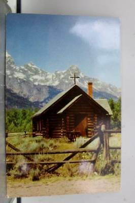 Wyoming WY Chapel of Transfiguration Moose Postcard Old Vintage Card View Post