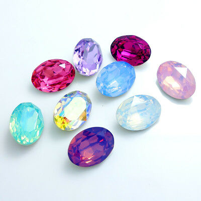 Mix oval ELEMENTS Resin rhinestones loose beads jewelry making  10/14/18/25mm