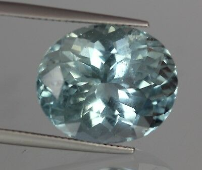 16.45 Cts Natural Africa Oval Cut Blue Aquamarine Gemstone No Reserve