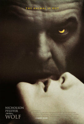 WOLF great original 27x40 movie poster (th36)