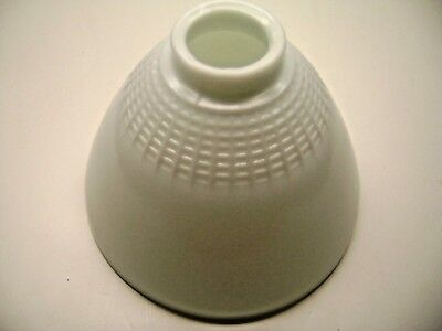 """8"""" Milk Glass Lamp Shade Light Diffuser Torchiere Partial Waffle Vintage"""