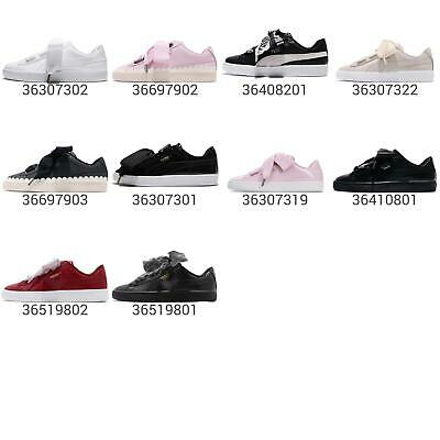 on sale 0bbc8 8f56a PUMA BASKET HEART Patent Wns Women / JR Junior Kids Shoe Sneakers Pick 1