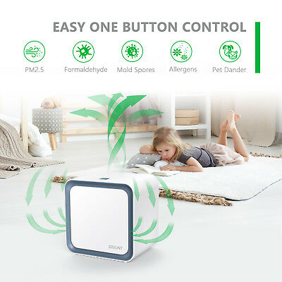3 in 1 Lonic Mini Air Purifier Lonizer with HEPA Filter Smoke Cleaner Fresh Room