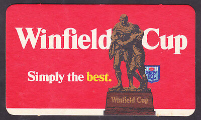 "Beer Coaster Nsw Rugby League Winfield Cup ""simply The Best"" -  Brand New #2"
