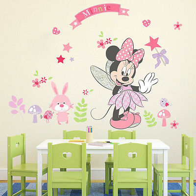 Nice Minnie Mouse Large Wall Stickers Vinyl Decals Kids Mural Girls Room Decor