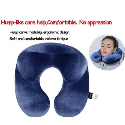 Inflatable Travel Neck Pillow Soft Air U Shape Pillow Sleep Head Cushion Useful