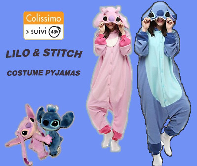 Stitch pyjamas adultes unisexe Kigurumi cosplay costume animal Onesi vêtements 1