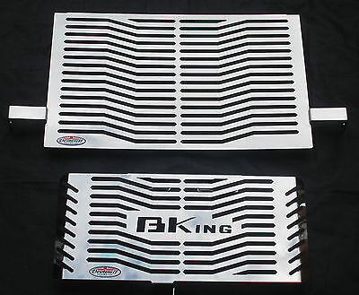 Suzuki B-King (07-12) Stainless Steel Radiator Rad Guard Grill Beowulf S031ROC L