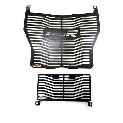 BMW S1000R (2017 >) Stainless Steel Black Radiator Guard & Oil cooler Beowulf