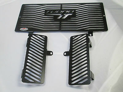 Aprilia Tuono 1000 (06-10) Black Radiator & Oil Cooler Protectors Covers Guards