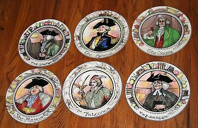 """6 Royal Doulton """"The Professionals"""" plates, Admiral, Falconer, Mayor, Squire...."""