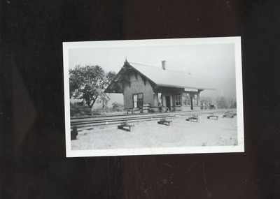 old Wood River RI Junction photo postcard,railroad station depot ,repro,