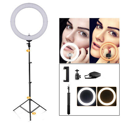 """LED Dimmable 18"""" Ligh Ring Portrait Lighting For Live Photography Youtube Videos"""