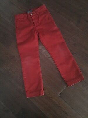GENUINE Boys Ralph Lauren Polo RED CHINO Jeans Age 3-4 YRS