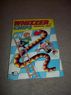 Vintage Whizzer & Chips Annual, 1981, HB, Unclipped, See others & Combine Ship