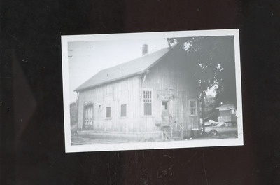 old Phillipsdale RI photo postcard, railroad station, depot