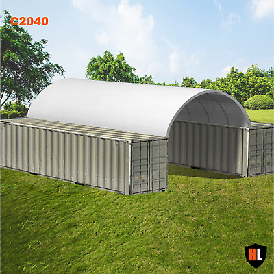 20 x 40 FT SHIPPING CONTAINER CANOPY / SHELTER, SHED - GALVANISED STEEL FRAME