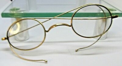 1866-90  Antique Victorian ROLLED GOLD  metal framed  spectacles in  case