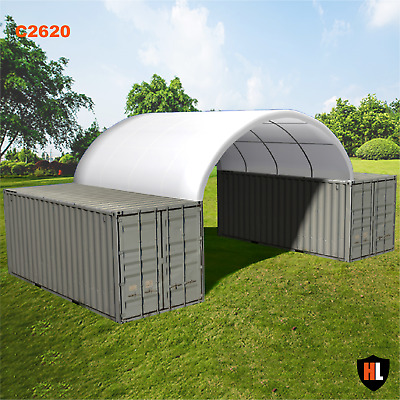 26 x 20 FT SHIPPING CONTAINER CANOPY / SHELTER, SHED - GALVANISED STEEL FRAME