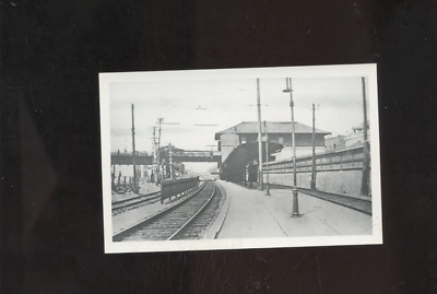 old East Providence RI photo postcard, railroad station,depot,Rhode Island,