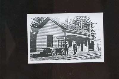 old Coventry Center RI photo postcard, railroad station,depot, Rhode Island