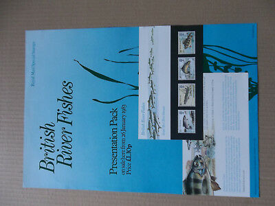 Royal Mail A3 Post Office Poster 1983 British River Fishes Presentation Pack
