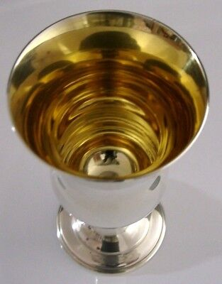 SUPERB SOLID STERLING SILVER GOBLET CHALICE 1966 HEAVY 110g ENGLISH