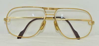 1096e0d4dd Vintage CARTIER Tank Louis Eyeglasses Sunglasses Lunettes gold Plated