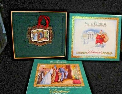 2011 White House Christmas Ornament Historical Association With Box & Booklet