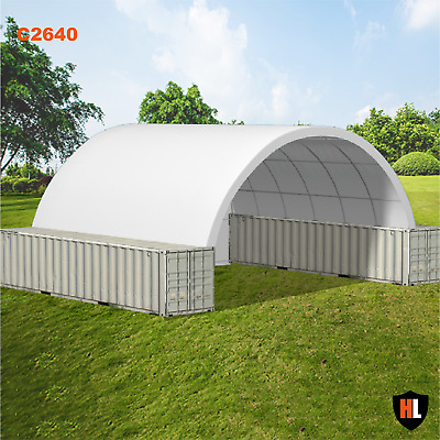 26 x 40 FT SHIPPING CONTAINER CANOPY / SHELTER, SHED - GALVANISED STEEL FRAME