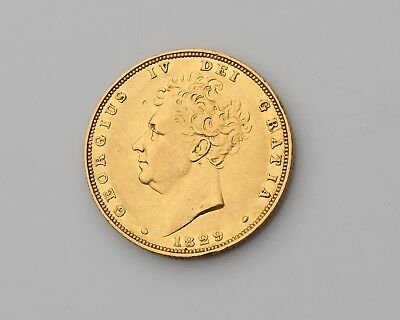 1829 Gold Sovereign  George IV (Bare Head) Gold  Coin