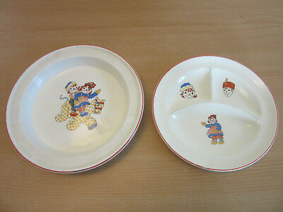 2 1941 Johnny Greuelle Raggedy Ann & Andy Ware Brooksville Childs plates