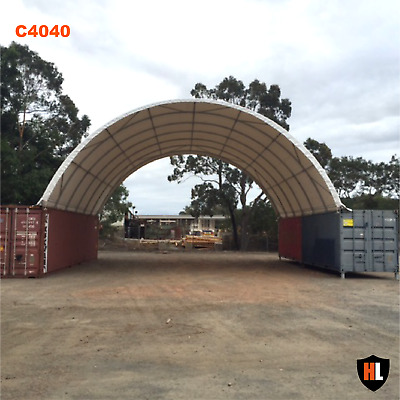 40 x 40 FT SHIPPING CONTAINER CANOPY / SHELTER, SHED - GALVANISED STEEL FRAME