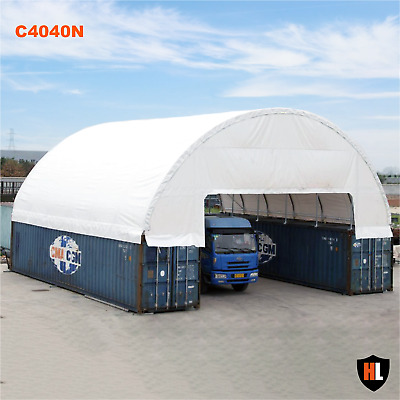 40 x 40 FT SHIPPING CONTAINER CANOPY / SHELTER - Extra inner ledge support