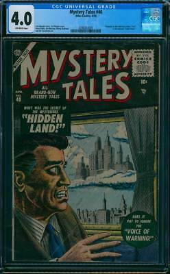 Mystery Tales # 40  The 'Lost' TV show issue !   CGC 4.0 scarce book !