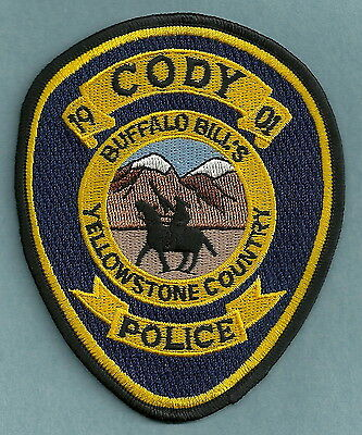 Cody Wyoming Police Patch Cowboy