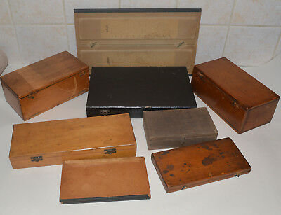 8 x microscope slide boxes / cases.
