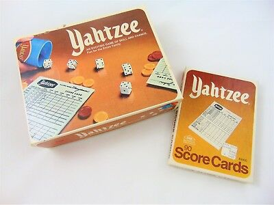 Vintage Yahtzee Dice Game with Extra Score Pads Cards