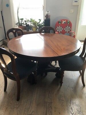 Antique Mahogany Dining Room Set - Excellent Condition