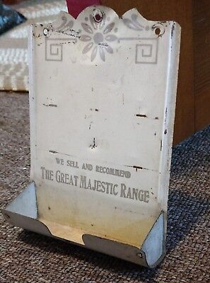 1930s MAJESTIC RANGES Metal MATCH HOLDER DISPLAY