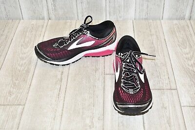 Brooks Ghost 10 Running Shoe-Women's Size 7.5B Black/Pink/Coral
