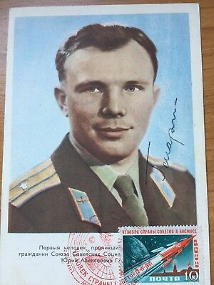 Gagarin Signed,Autograph,Space Autogramm