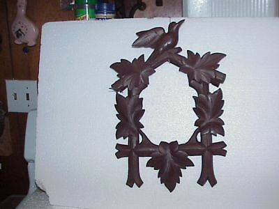 Excellent Vintage Brown Cuckoo Clock Front & Top Trim parts repair L