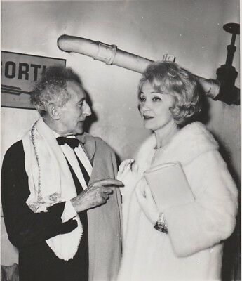 Superbe photo originale NB  MARLENE DIETRICH  et  JEAN COCTEAU