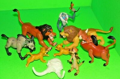 The Lion King Large Mixed Figures Collection Rare Vintage Disney Toys X8 & skull